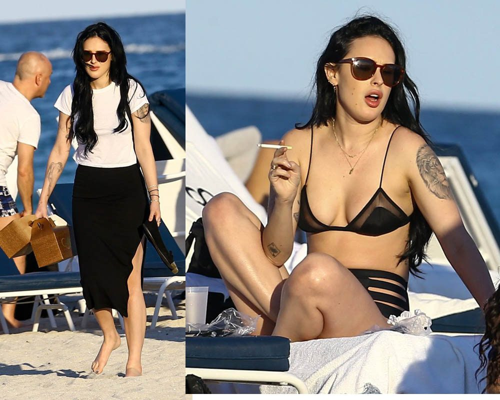 52305486 Actress and singer Rumer Willis was seen out with friends on the beach in Miami, Florida on February 5, 2017.  The group enjoyed getting some sun while they were out. FameFlynet, Inc - Beverly Hills, CA, USA - +1 (310) 505-9876