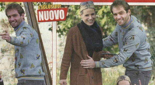Michelle Hunziker e Tomaso Trussardi, mani sospette sul pancino: