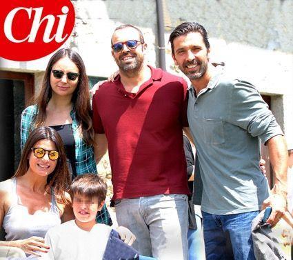 Ilaria D'Amico e Gigi Buffon, prove di famiglia allargata