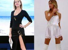Alessia-Marcuzzi-Isola-dei-Famosi-outfit-Versace-Le-Iene-abito-Iro